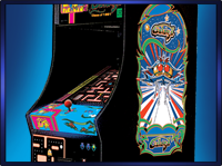 Ms. Pac-Man / Galaga Double Side Retro Art