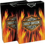 Click here to learn more about the  Harley-Davidson Flame Playing Cards.