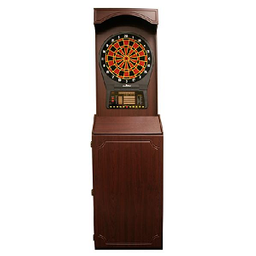 Click here to learn more about the Arcade-Style Cabinet with Arachnid CricketPro 800 Electronic Dartboard.