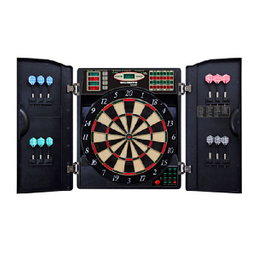 Click here to learn more about the Arachnid E-Bristle 1000 LED Electronic Dartboard.