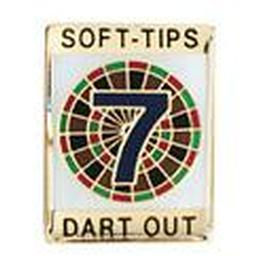 "Soft-Tips ""7 Dart Out"" Award Pin"