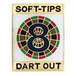 "Soft-Tips ""8 Dart Out"" Award Pin"