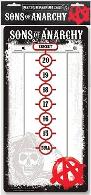 Click here to learn more about the Sons of Anarchy™ Darts Scoreboard.