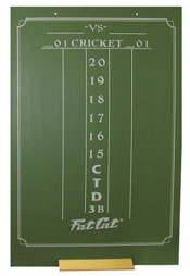 Click here to learn more about the GLD Large Chalk Cricket Darts Scoresheet.