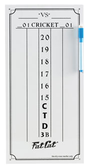 Click here to learn more about the GLD Small Dry-Erase Cricket Darts Scoresheet.