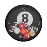 Fallen Billiard Balls Wall Clock