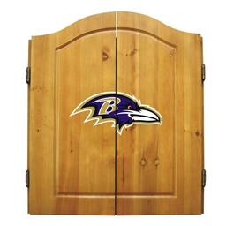 Click here to learn more about the Baltimore Ravens NFL Dart Cabinet With Darts and Dartboard.