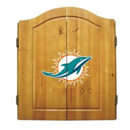 Click here to learn more about the Miami Dolphins NFL Dart Cabinet With Darts and Dartboard.