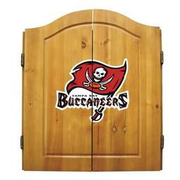 Click here to learn more about the Tampa Bay Buccaneers NFL Dart Cabinet With Darts and Dartboard.