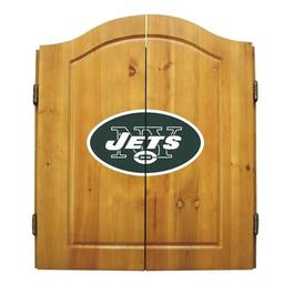 Click here to learn more about the New York Jets NFL Dart Cabinet With Darts and Dartboard.
