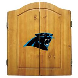Click here to learn more about the Carolina Panthers NFL Dart Cabinet With Darts and Dartboard.