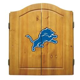 Click here to learn more about the Detroit Lions NFL Dart Cabinet With Darts and Dartboard.