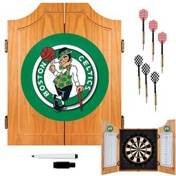 Click here to learn more about the Boston Celtics NBA Wood Dart Cabinet Set.