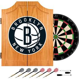 Click here to learn more about the Brooklyn Nets NBA Wood Dart Cabinet Set.