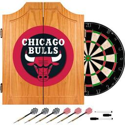 Click here to learn more about the Chicago Bulls NBA Wood Dart Cabinet Set.