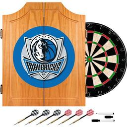 Click here to learn more about the Dallas Mavericks NBA Wood Dart Cabinet Set.