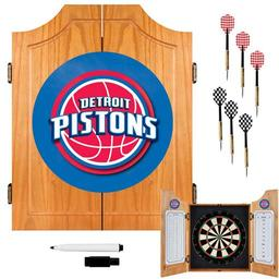 Click here to learn more about the Detroit Pistons NBA Wood Dart Cabinet Set.