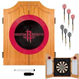 Click here to learn more about the Houston Rockets NBA Wood Dart Cabinet Set.