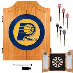 Click here to learn more about the Indiana Pacers NBA Wood Dart Cabinet Set.