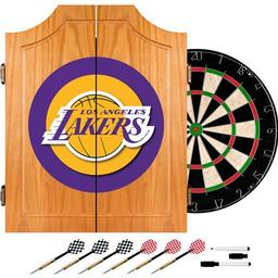 Click here to learn more about the Los Angeles Lakers NBA Wood Dart Cabinet Set.