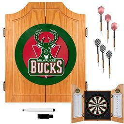Click here to learn more about the Milwaukee Bucks NBA Wood Dart Cabinet Set.
