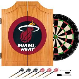 Click here to learn more about the Miami Heat NBA Wood Dart Cabinet Set.