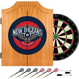 Click here to learn more about the New Orleans Pelicans NBA Wood Dart Cabinet Set.