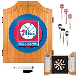 Click here to learn more about the Philadelphia 76ers NBA Wood Dart Cabinet Set.