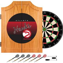 Click here to learn more about the Atlanta Hawks Hardwood Classics NBA Wood Dart Cabinet Set.