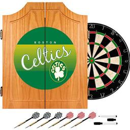 Click here to learn more about the Boston Celtics Hardwood Classics NBA Wood Dart Cabinet Set.