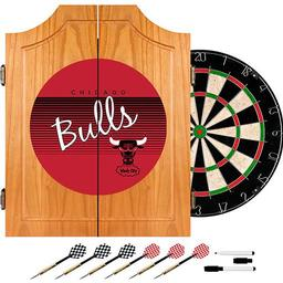 Click here to learn more about the Chicago Bulls Hardwood Classics NBA Wood Dart Cabinet Set.