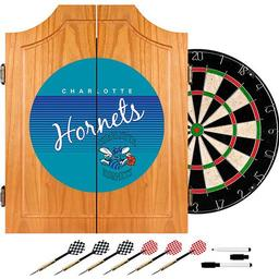 Click here to learn more about the Charlotte Hornets Hardwood Classics NBA Wood Dart Cabinet.