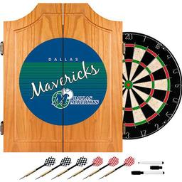 Click here to learn more about the Dallas Mavericks Hardwood Classics NBA Wood Dart Cabinet.