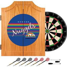 Click here to learn more about the Denver Nuggets Hardwood Classics NBA Wood Dart Cabinet.
