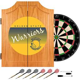 Click here to learn more about the Golden State Warrior Hardwood Classics NBA Wood Dart Cabinet.