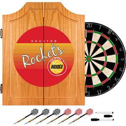 Click here to learn more about the Houston Rockets Hardwood Classics NBA Wood Dart Cabinet.