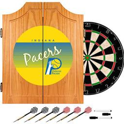 Click here to learn more about the Indiana Pacers Hardwood Classics NBA Wood Dart Cabinet.