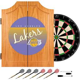 Click here to learn more about the Los Angeles Lakers Hardwood Classics NBA Wood Dart Cabinet.