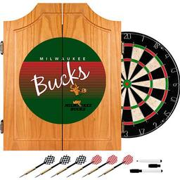 Click here to learn more about the Milwaukee Bucks Hardwood Classics NBA Wood Dart Cabinet.