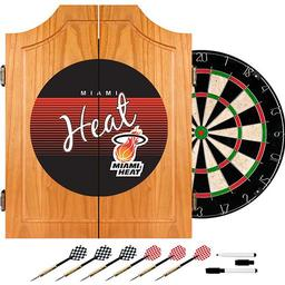 Click here to learn more about the Miami Heat Hardwood Classics NBA Wood Dart Cabinet.