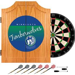 Click here to learn more about the Minnesota Timberwolves Hardwood Classics NBA Wood Dart Cabinet.