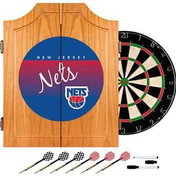 Click here to learn more about the New Jersey Nets Hardwood Classics NBA Wood Dart Cabinet.