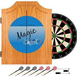 Click here to learn more about the Orlando Magic Hardwood Classics NBA Wood Dart Cabinet.