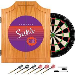 Click here to learn more about the Phoenix Suns Hardwood Classics NBA Wood Dart Cabinet.