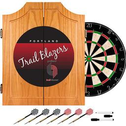Click here to learn more about the Portland Trail Blazers Hardwood Classics NBA Wood Dart Cabinet.