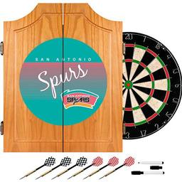 Click here to learn more about the San Antonio Spurs Hardwood Classics NBA Wood Dart Cabinet.