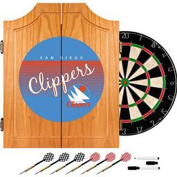 Click here to learn more about the San Diego Clippers Hardwood Classics NBA Wood Dart Cabinet.