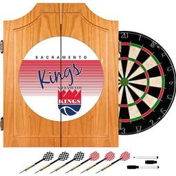 Click here to learn more about the Sacramento Kings Hardwood Classics NBA Wood Dart Cabinet.