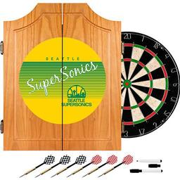 Click here to learn more about the Seattle Super Sonics Hardwood Classics NBA Wood Dart Cabinet.