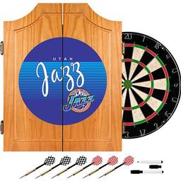Click here to learn more about the Utah Jazz Hardwood Classics NBA Wood Dart Cabinet.